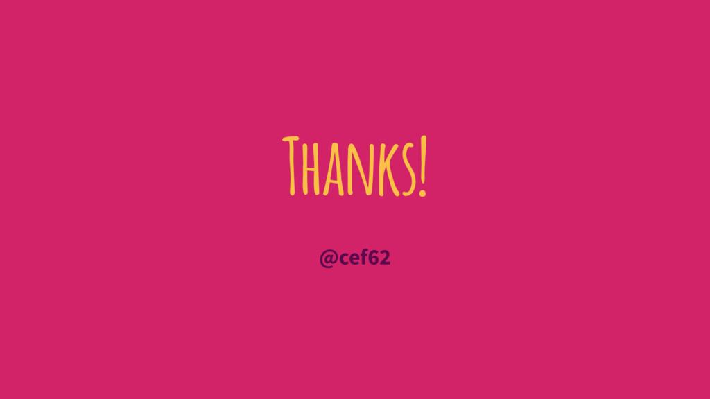 Thanks! @cef62