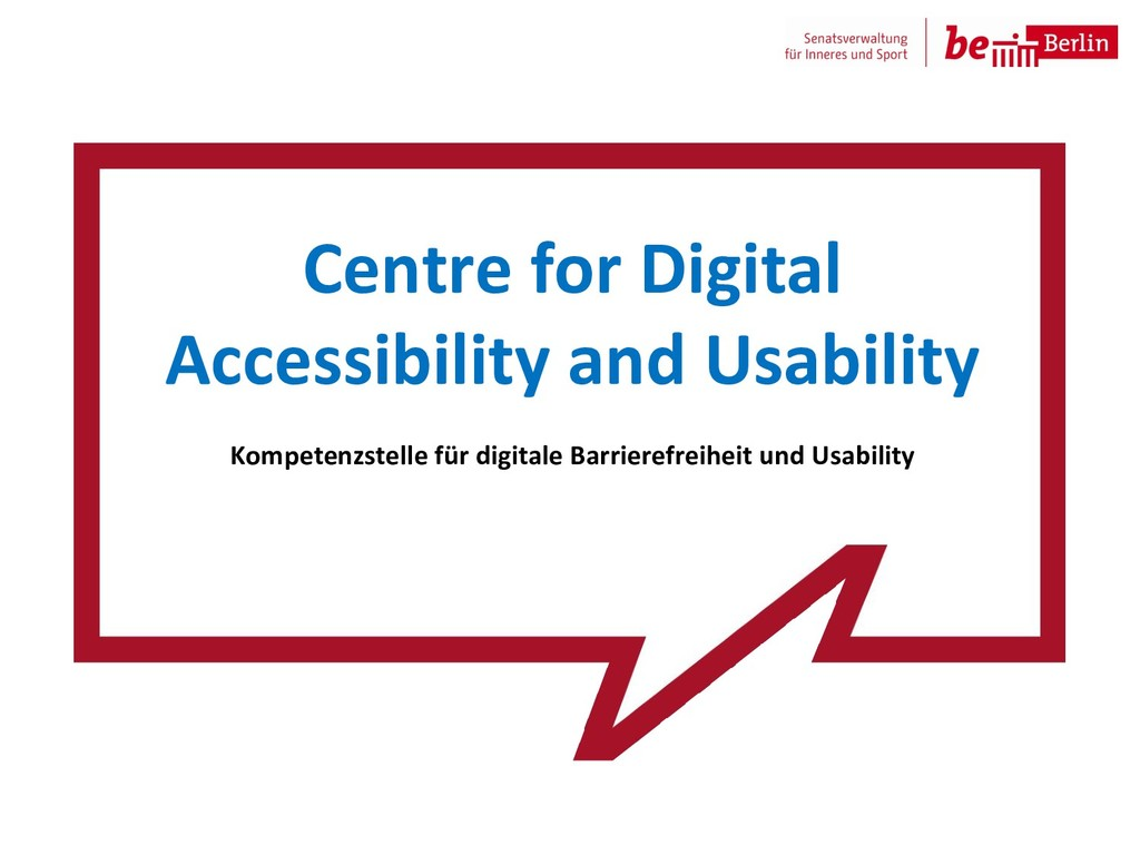 Centre for Digital Accessibility and Usability ...
