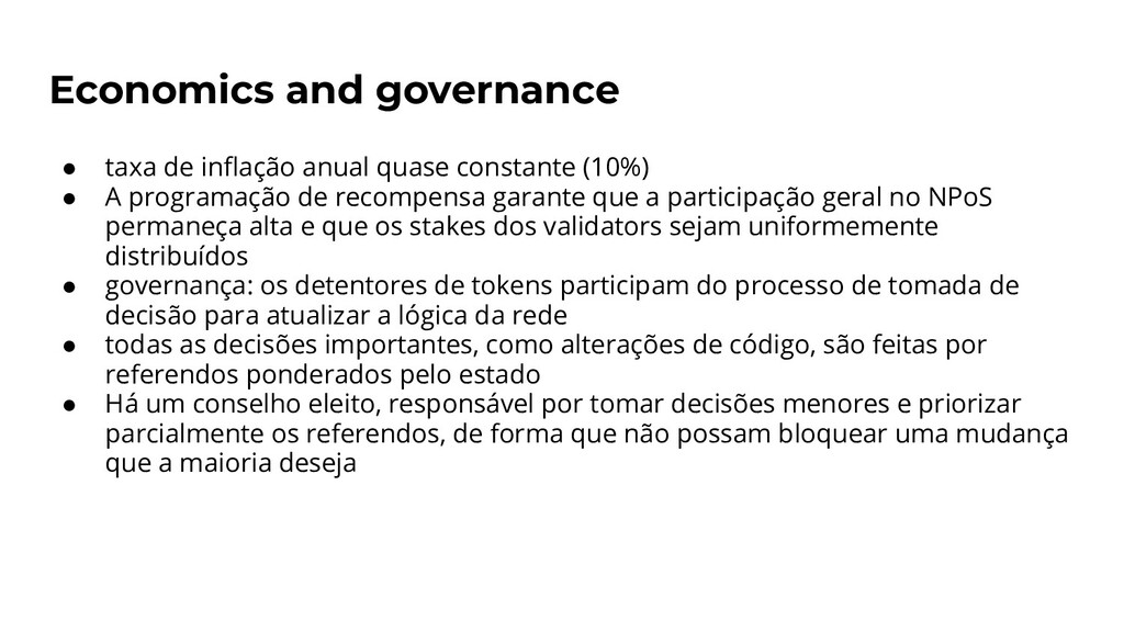 Economics and governance ● taxa de inflação anua...