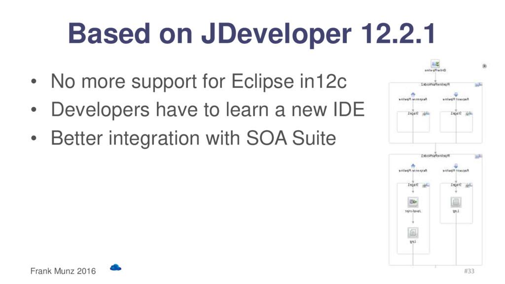 Based on JDeveloper 12.2.1 • No more support fo...