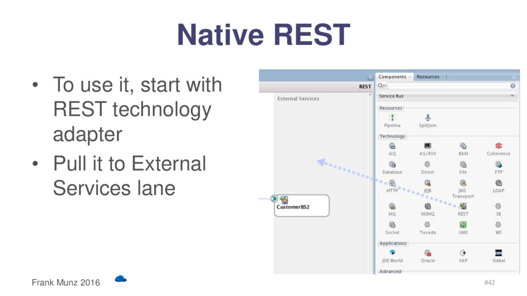 Native REST • To use it, start with REST techno...