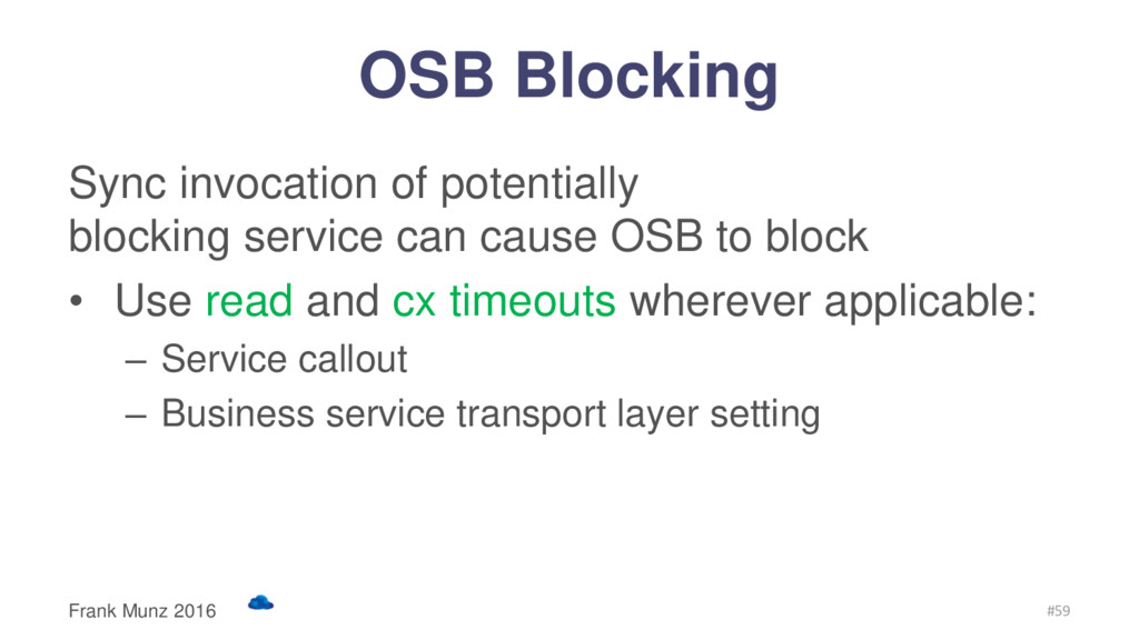 OSB Blocking Sync invocation of potentially blo...