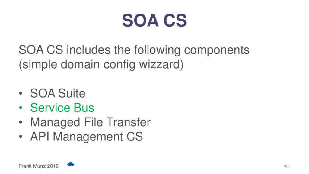 SOA CS SOA CS includes the following components...