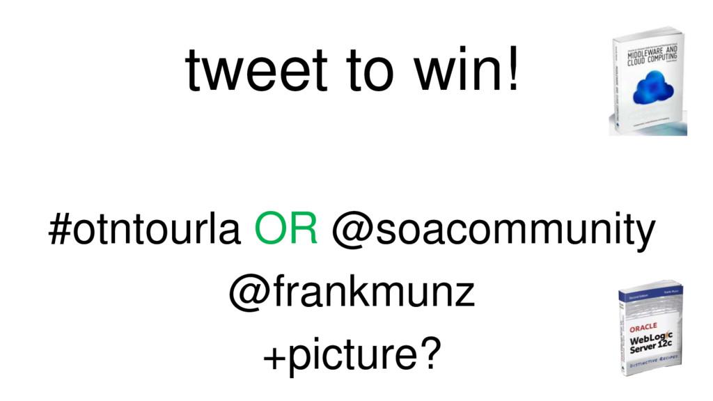 tweet to win! #otntourla OR @soacommunity @fran...