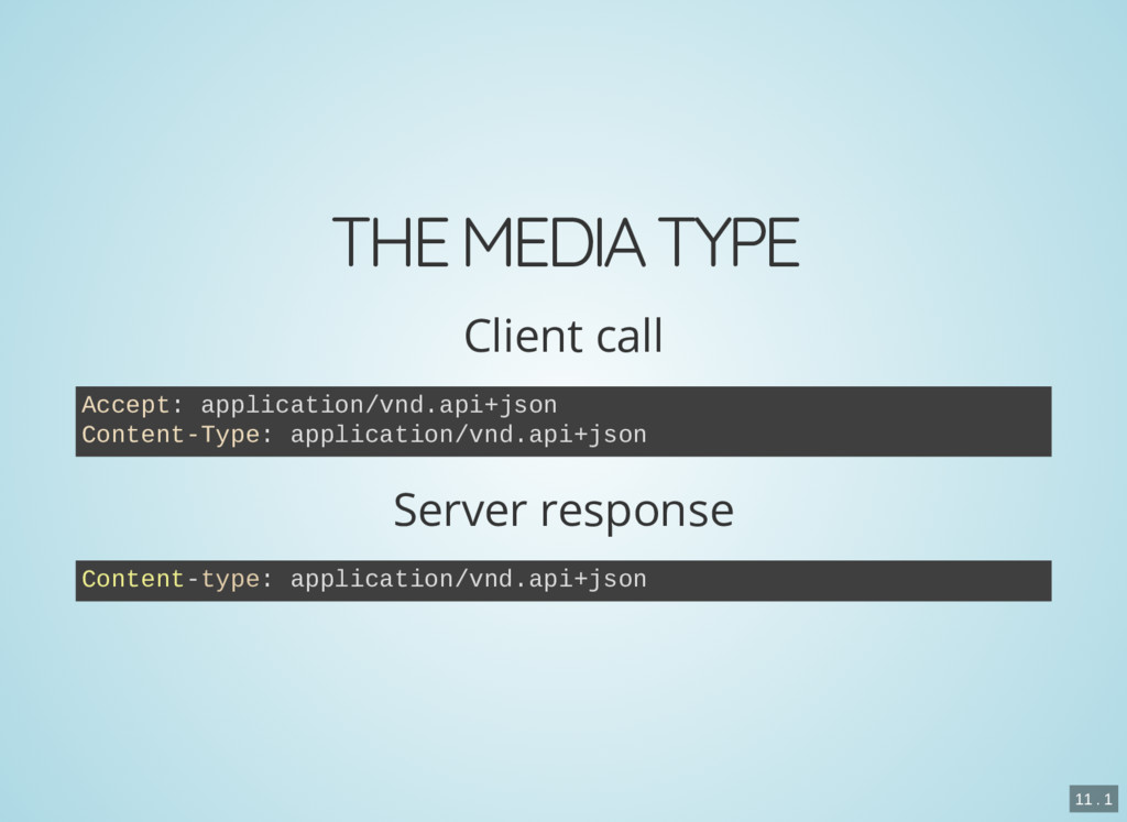 THE MEDIA TYPE Client call Server response Acce...