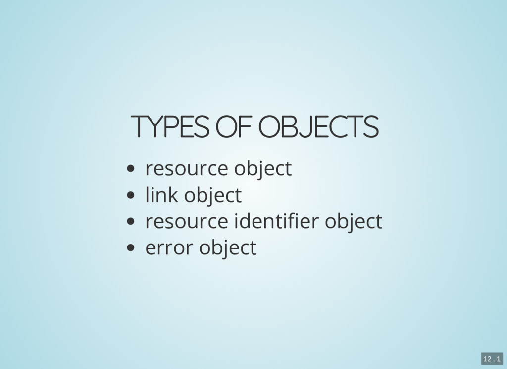 TYPES OF OBJECTS resource object link object re...