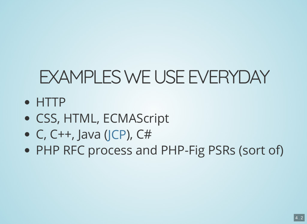 EXAMPLES WE USE EVERYDAY HTTP CSS, HTML, ECMASc...