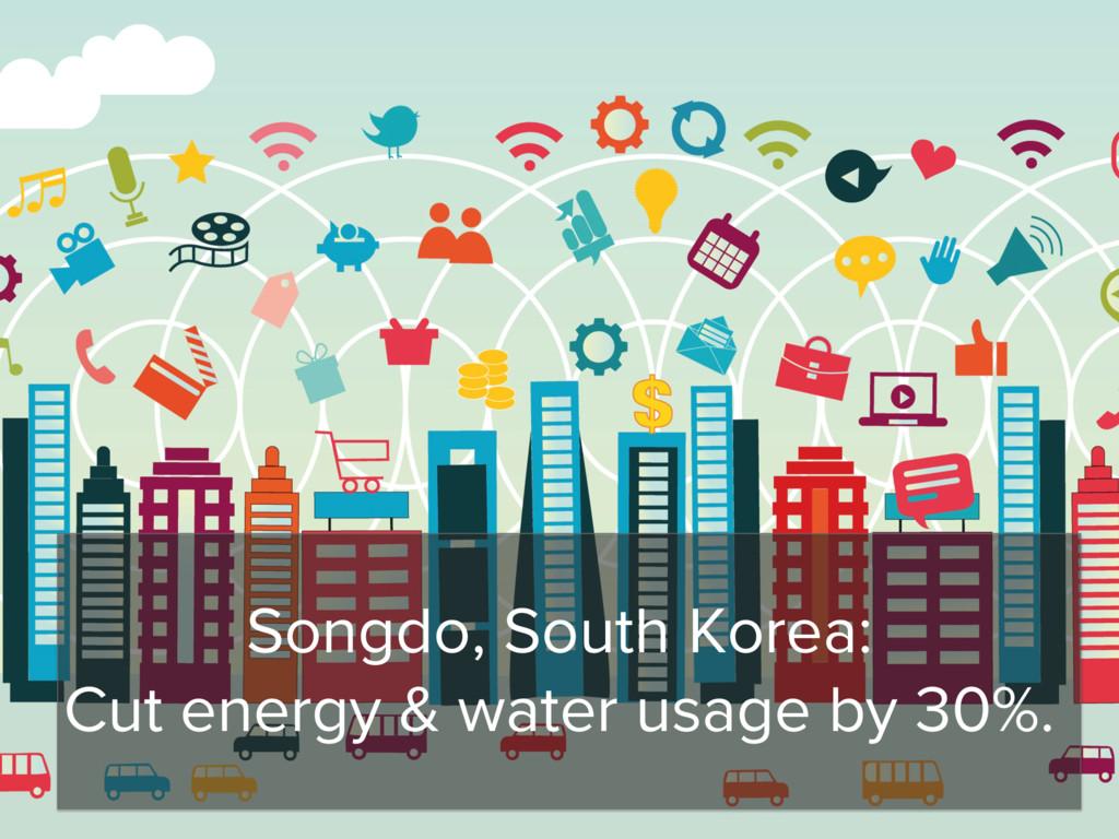 Songdo, South Korea: Cut energy & water usage b...