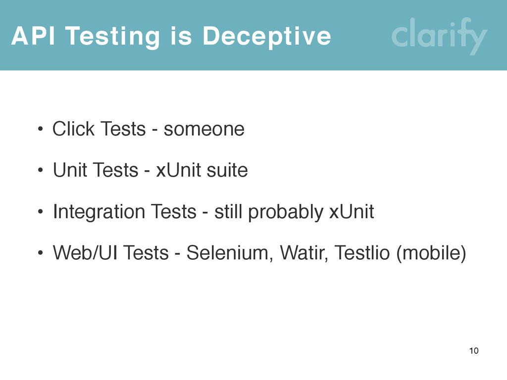 • Click Tests - someone • Unit Tests - xUnit su...