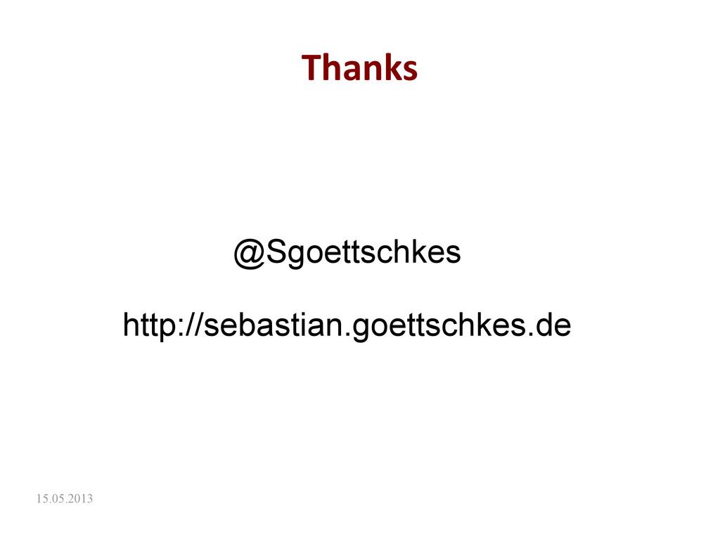 15.05.2013 Thanks @Sgoettschkes http://sebastia...
