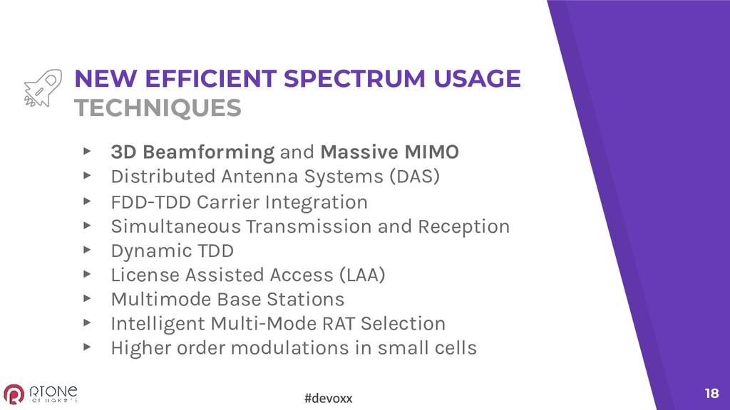18 NEW EFFICIENT SPECTRUM USAGE TECHNIQUES ▸ 3D...