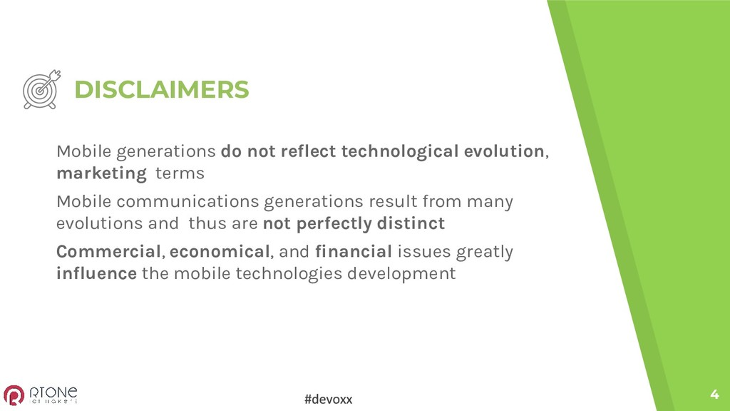 DISCLAIMERS 4 Mobile generations do not reflect...