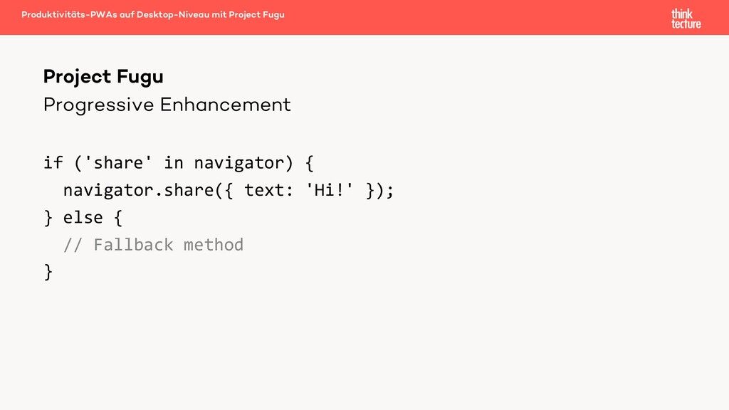 Progressive Enhancement if ('share' in navigato...