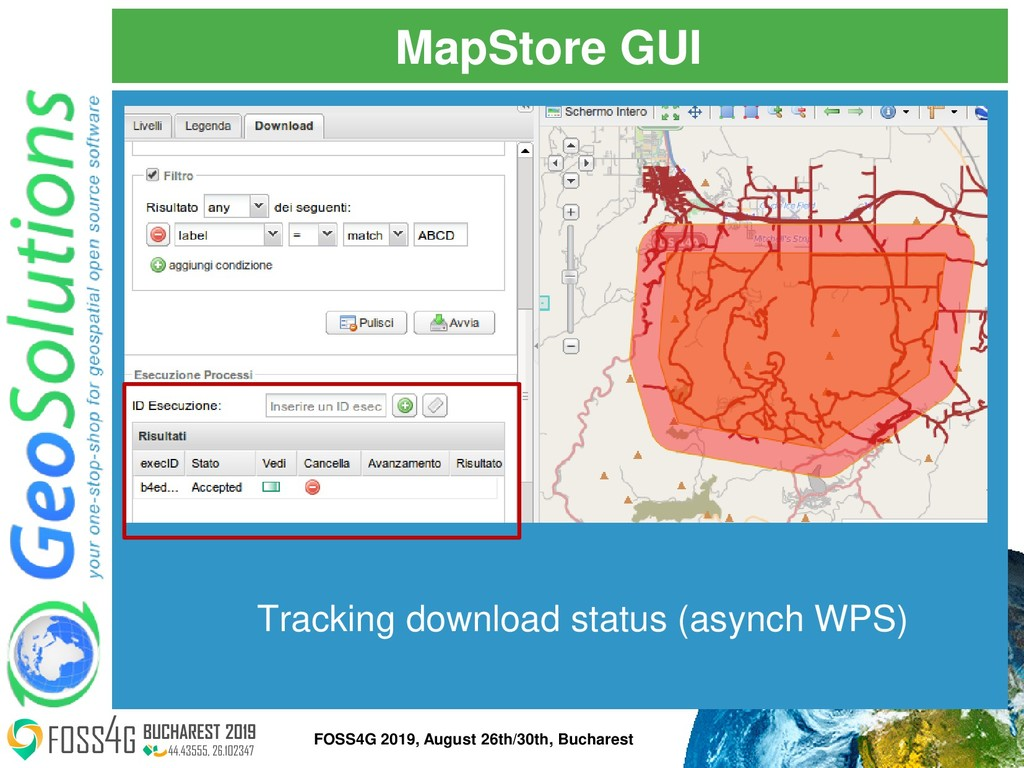 MapStore GUI Tracking download status (asynch W...