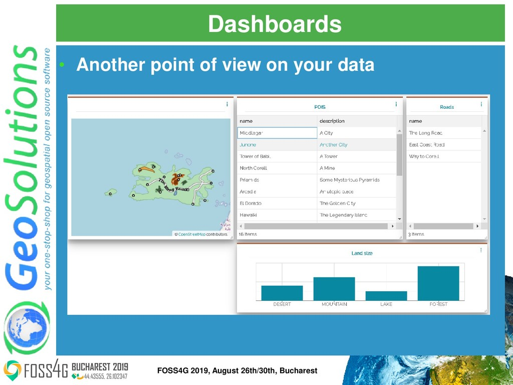 Dashboards • Another point of view on your data...