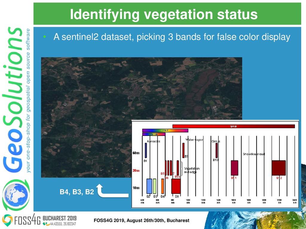 Identifying vegetation status • A sentinel2 dat...