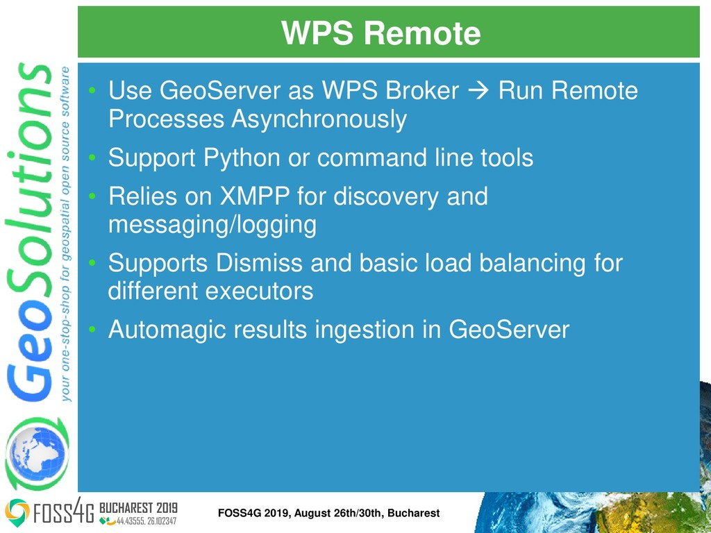 WPS Remote • Use GeoServer as WPS Broker → Run ...