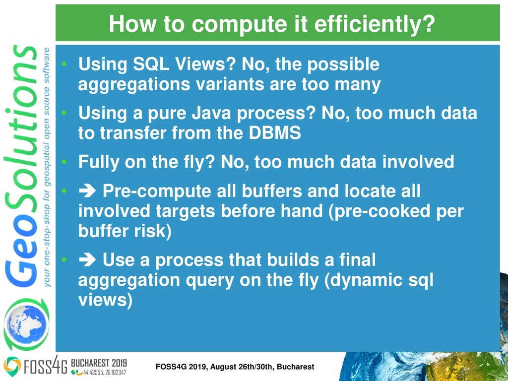 How to compute it efficiently? • Using SQL View...