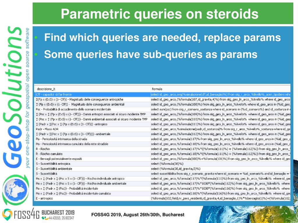 Parametric queries on steroids • Find which que...