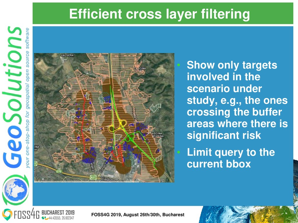 Efficient cross layer filtering • Show only tar...