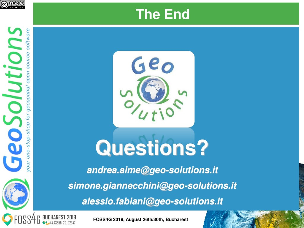 The End Questions? andrea.aime@geo-solutions.it...