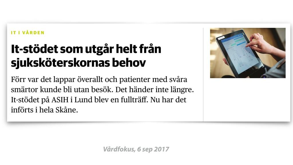 Vårdfokus, 6 sep 2017