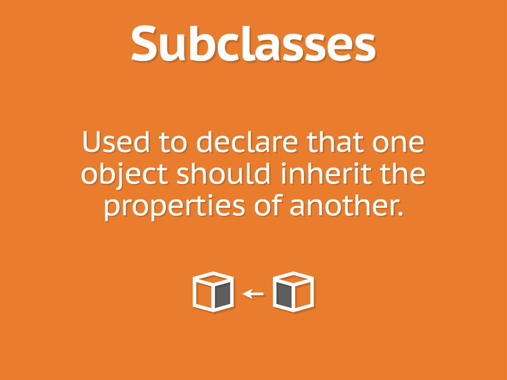 Subclasses Used to declare that one object shou...