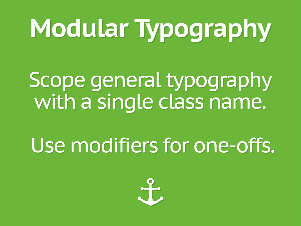 Modular Typography Scope general typography wit...