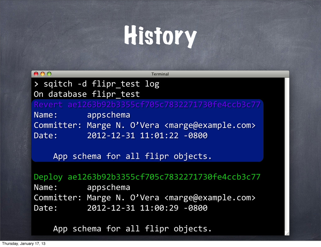 History > >	