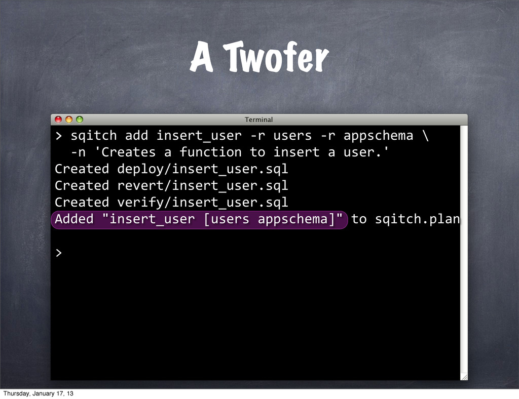 A Twofer > >	