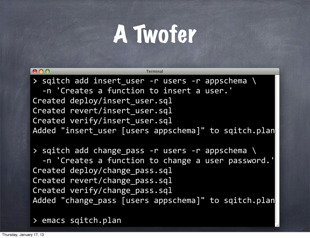 A Twofer > 	