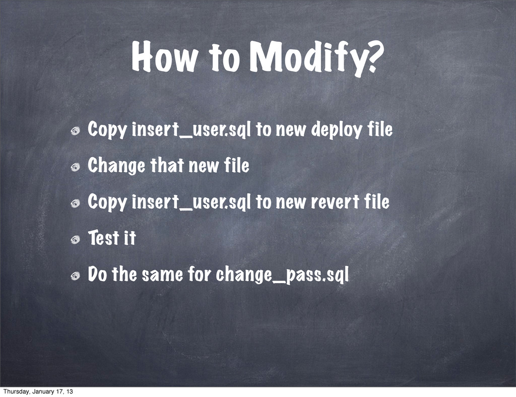 How to Modify? Copy insert_user.sql to new depl...