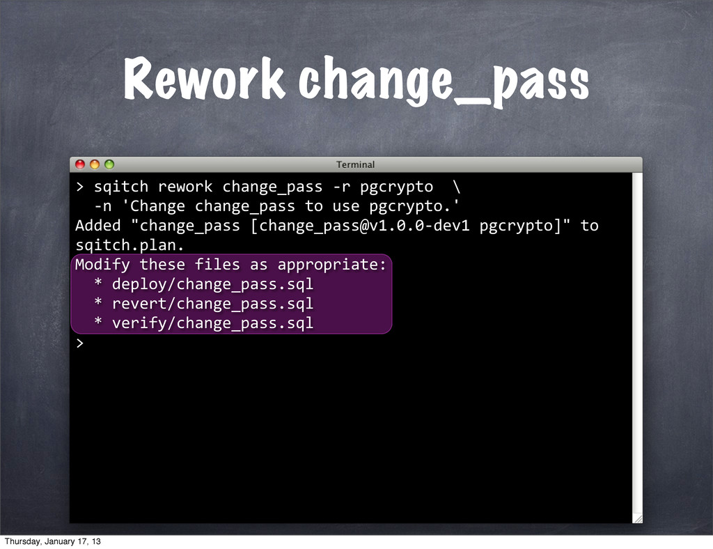 Rework change_pass > 	