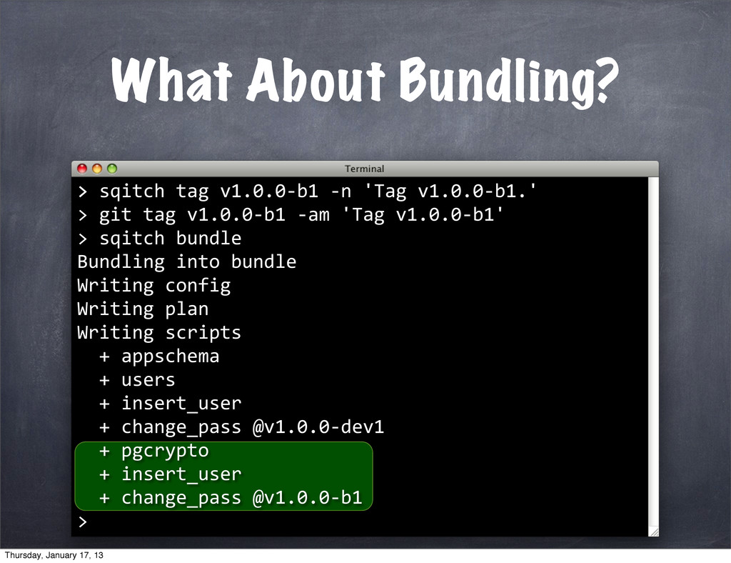 What About Bundling? > >	