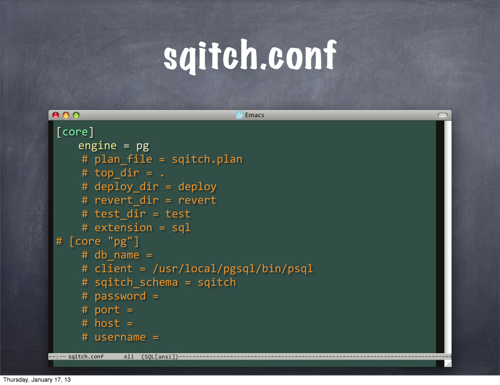 sqitch.conf sqitch.conf [core] 	