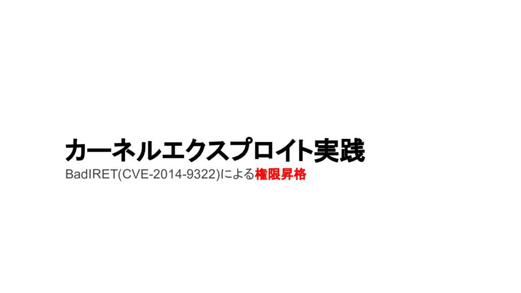 カーネルエクスプロイト実践 BadIRET(CVE-2014-9322)による権限昇格