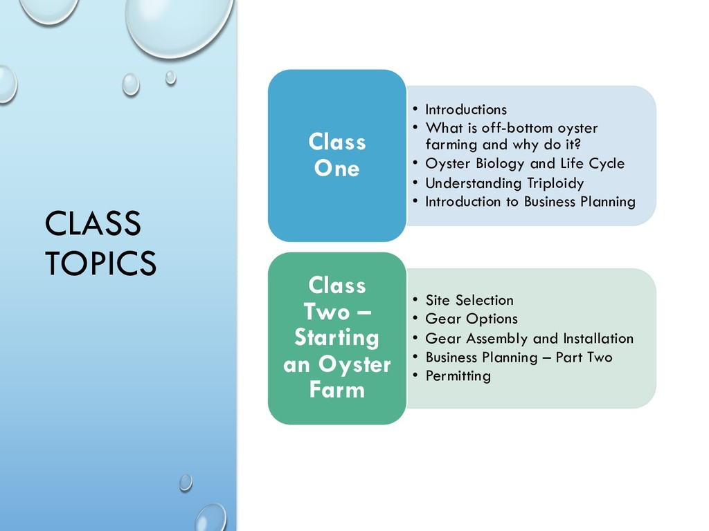 CLASS TOPICS • Introductions • What is off-bott...