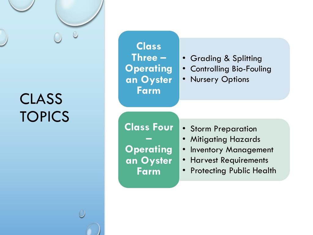 CLASS TOPICS • Grading & Splitting • Controllin...