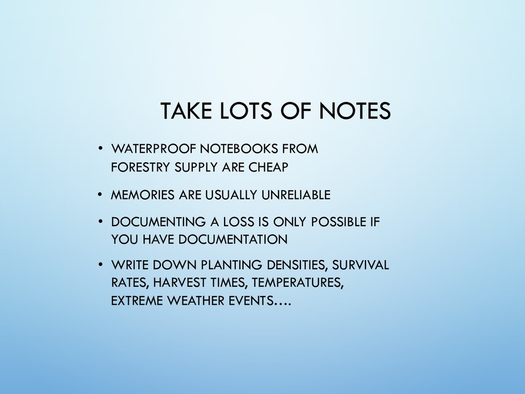 TAKE LOTS OF NOTES • WATERPROOF NOTEBOOKS FROM ...