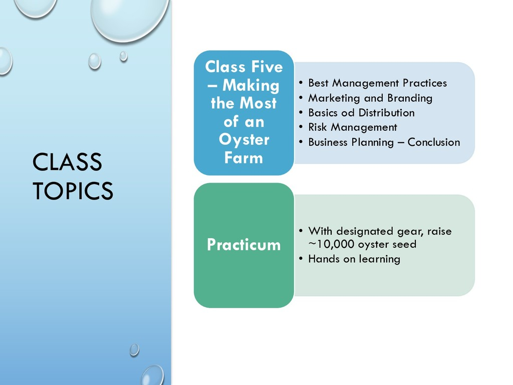 CLASS TOPICS • Best Management Practices • Mark...