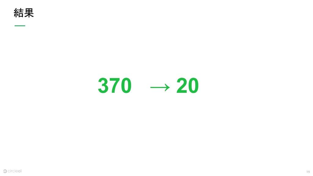 19 結果 370 → 20