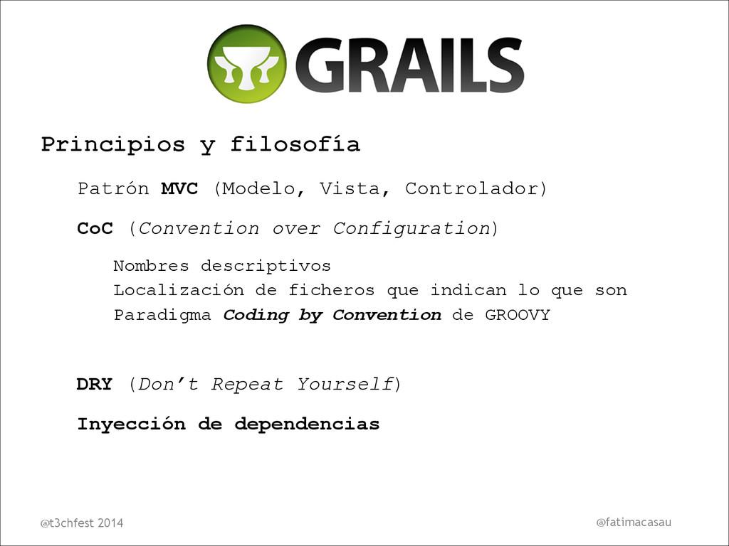 Principios y filosofía Patrón MVC (Modelo, Vist...