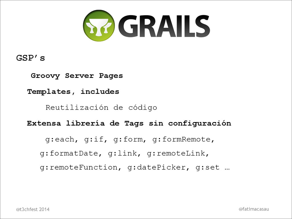 GSP's Groovy Server Pages Templates, includes R...