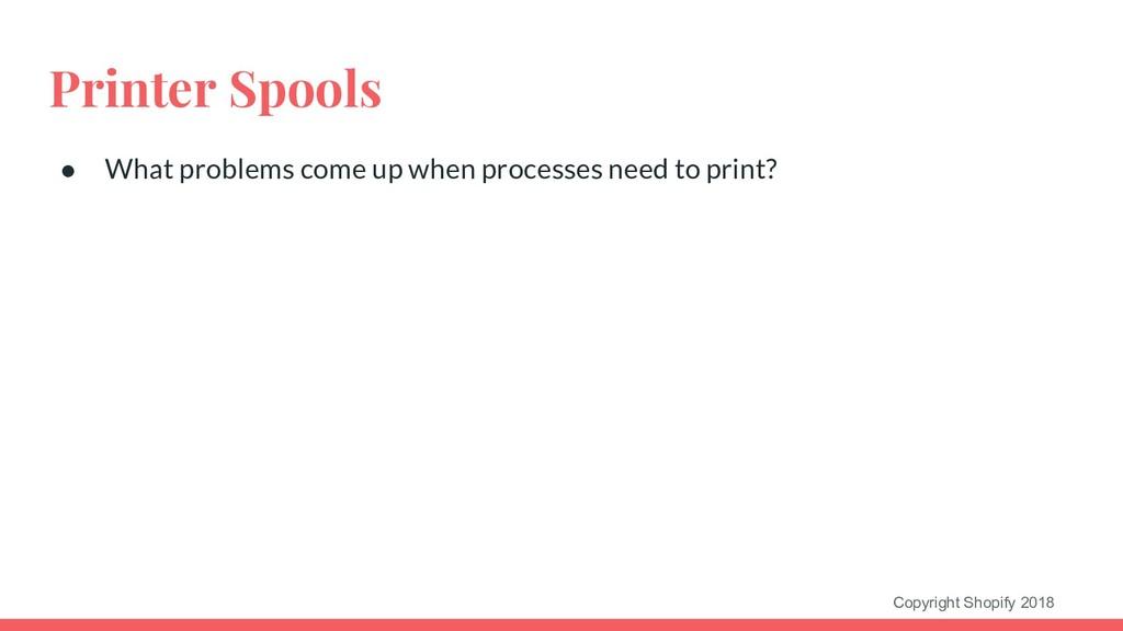Copyright Shopify 2018 Printer Spools ● What pr...
