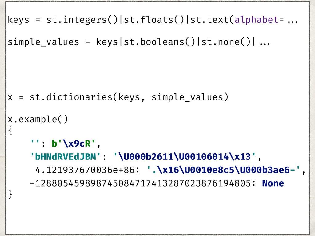 keys = st.integers()|st.floats()|st.text(alph...