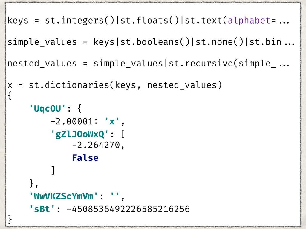 keys = st.integers()|st.floats()|st.text(alphab...