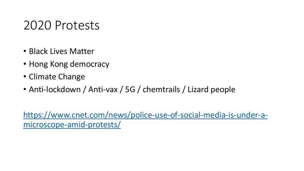 2020 Protests • Black Lives Matter • Hong Kong ...