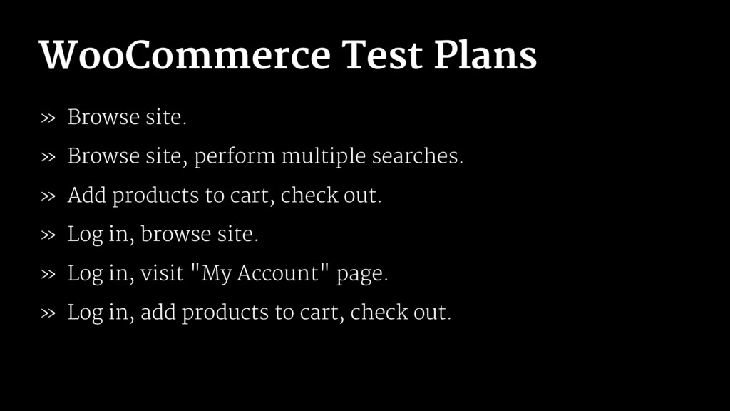 WooCommerce Test Plans » Browse site. » Browse ...