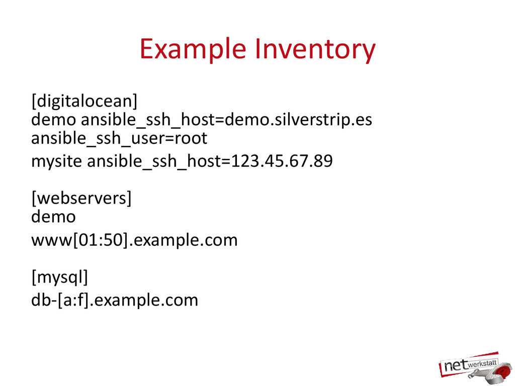 Example Inventory [digitalocean] demo ansible_s...