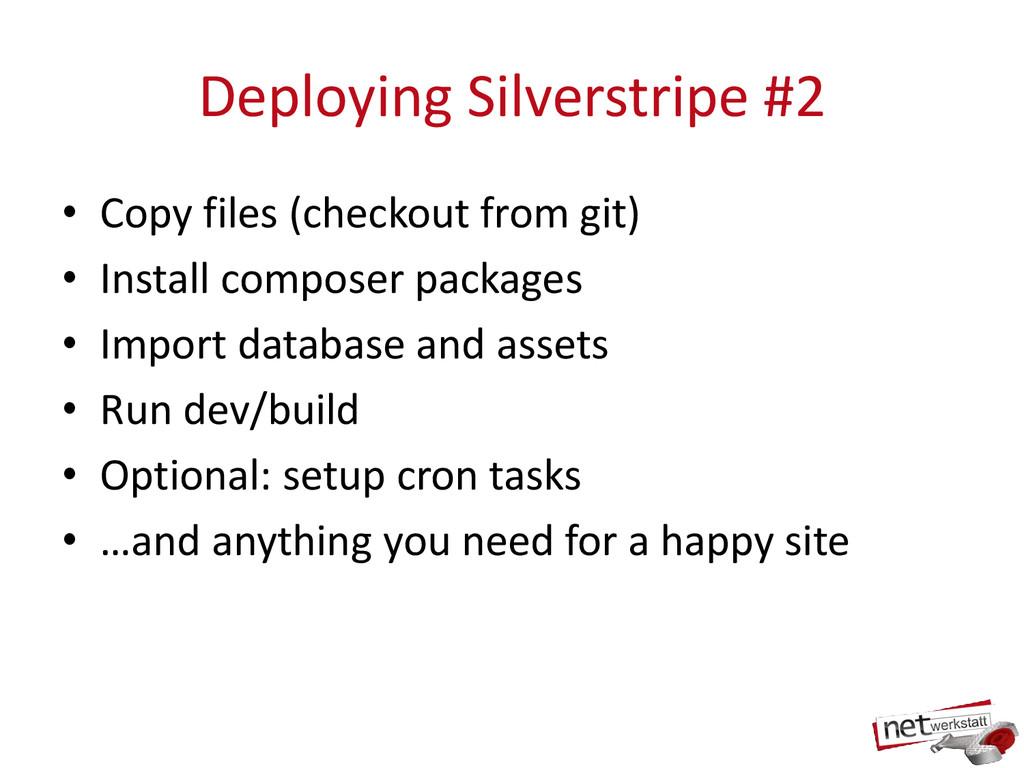 Deploying Silverstripe #2 • Copy files (checkou...